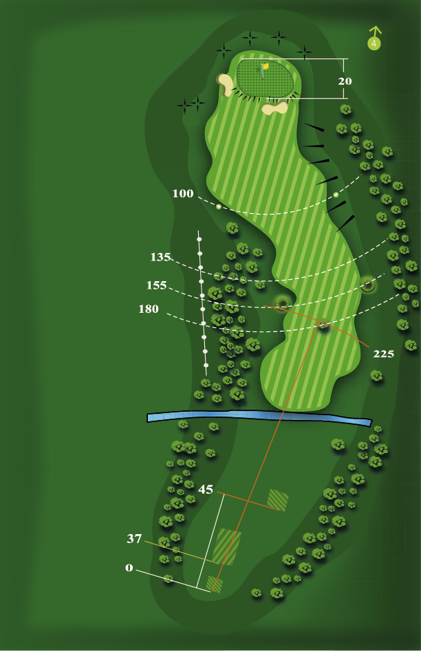 Yardage plan for Hole 3