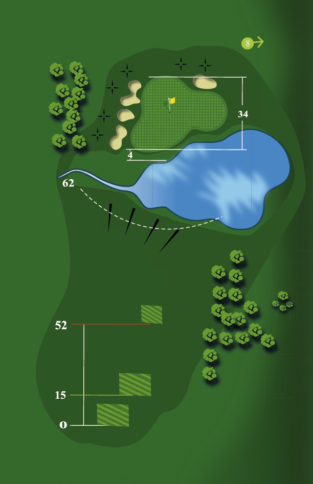Yardage plan for Hole 7