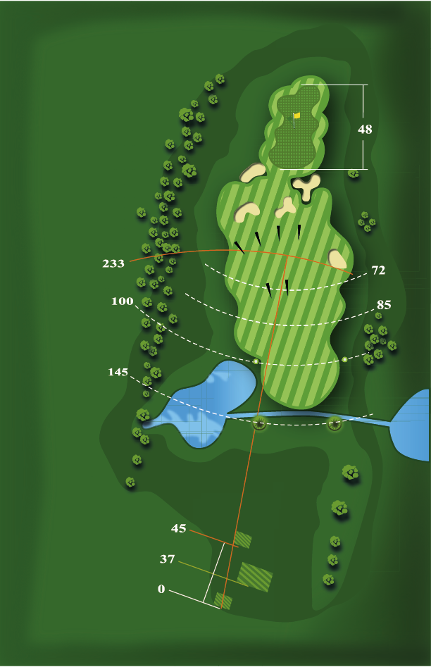 Yardage plan for Hole 18